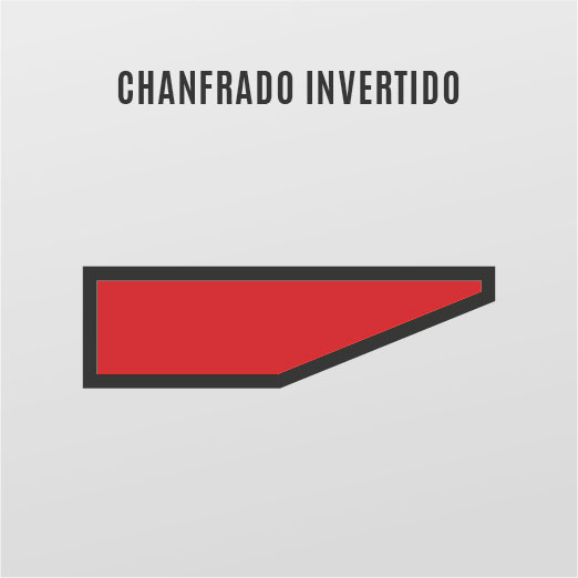 chanfrado invertido
